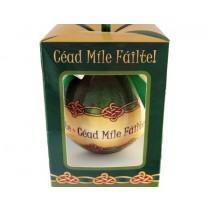 Cead Mile Failte Boxed Irish Christmas Ornament
