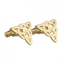 Irish Celtic Knot Gold Mens Cufflinks
