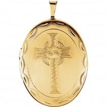 Celtic Cross Gold Plated Locket
