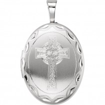 Celtic Cross Sterling Silver Locket