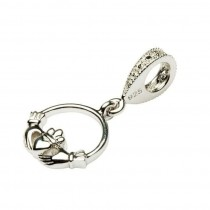 Celtic Diamond Claddagh Dangle Irish Charm Bead