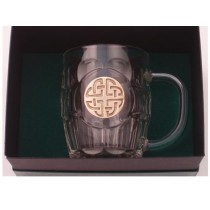 Celtic Knot Irish Beer Tankard Gold