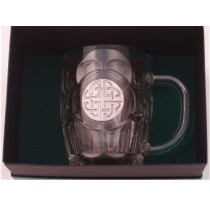 Celtic Knot Irish Beer Tankard  Silver