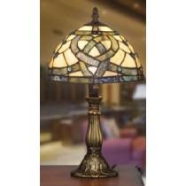 Multi Colored Irish Celtic Pathways Glass Lamp