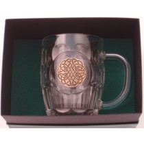 Celtic Swirl Irish Beer Tankard Gold