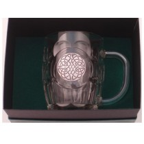 Celtic Swirl Irish Beer Tankard Silver