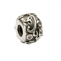 Celtic Trinity CZ Silver Stopper Irish Charm Bead
