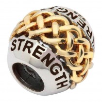 Celtic Two Tone Strength Irish Charm Bead