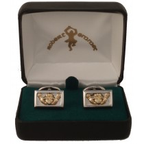 Claddagh Cuff Links Two Tone