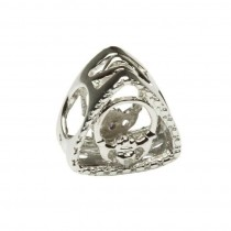 Diamond Claddagh Triangle Irish Charm