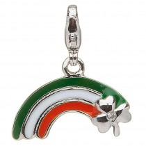 Diamond Rainbow Shamrock Irish Charm