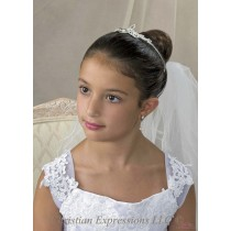Irish Trinity Knot First Communion Tiara