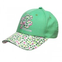 Floral Shamrock Girls Irish Baseball Cap