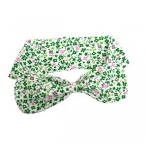 Floral Shamrock Girls Irish Hairband