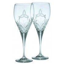 Galway Crystal Trinity Knot Wine Pair