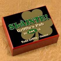 Slainte Personalized Irish Shamrock Humidor