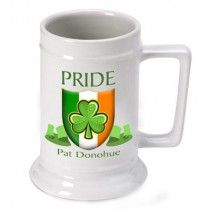 Personalized Irish Pride Beer Stein