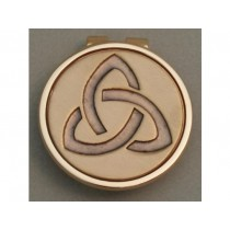 Gold Irish Trinity Knot Money Clip