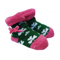 Girls Irish Shamrock Baby Booties