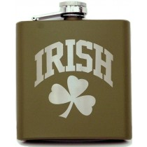 Green Irish Flask