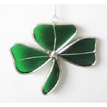 Green Shamrock Irish Suncatcher