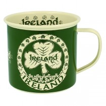 Ireland Enamel Irish Mug with Shamrocks
