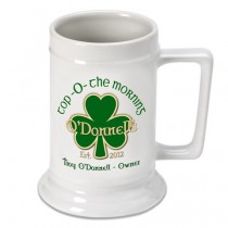 Personalized Irish  Beer Stein