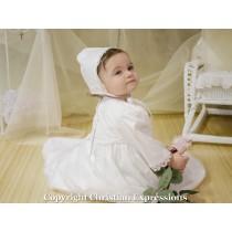 Girls Irish Shamrock Christening Gown 23