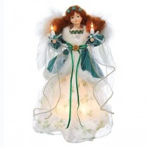 Irish Angel Christmas Lighted Tree Topper