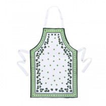 Irish Apron with Shamrocks