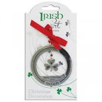 Irish at Heart Shamrock Christmas Ornament