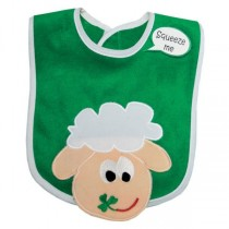 Irish Baby Bib with Fun Sheep and Shamrocks