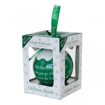 Irish Blessing Christmas Bauble Ornament