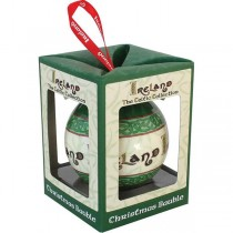 Irish Celtic Christmas Bauble Ornament