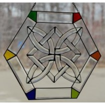 Irish Celtic Hexigon Suncatcher