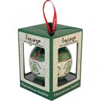 Irish Celtic Shamrock Christmas Bauble Ornament