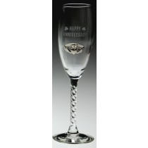 Irish Champagne Flute Glasses Happy Anniversary Claddagh