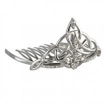Irish Claddagh Bridal Tiara on Comb