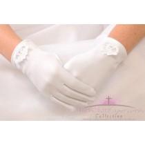 Irish Claddagh First Communion Gloves for Girls