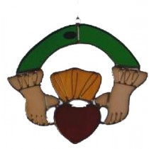 Irish Claddagh Suncatcher or Window Ornament