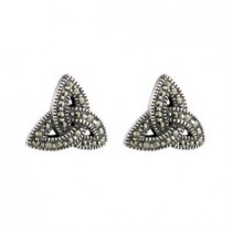 Irish Marcasite Trinity Knot Earrings