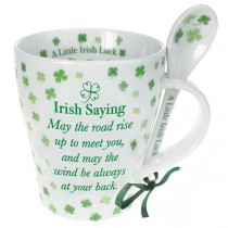 Irish Saying Coffee Mug and Spoon Set