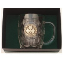 Irish Shamrock Beer Tankard Gold