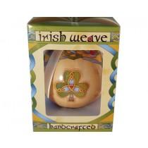 Irish Shamrock Weave Christmas Ornament Bauble