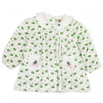 Girls Irish Shamrock Dress with Long Sleeves