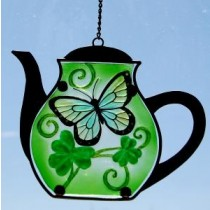 Irish Shamrock Teapot Suncatcher