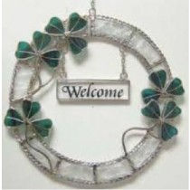 Irish Shamrock Welcome Wreath