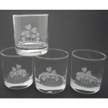 Irish Shamrock Whiskey Glasses
