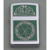 Irish Shamrock Zippo Lighter