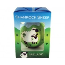 Irish Shamrocks & Sheep Christmas Ornament Bauble